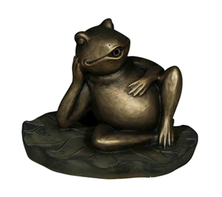 bermuda pond spitter decorative animal water features relaxed frog