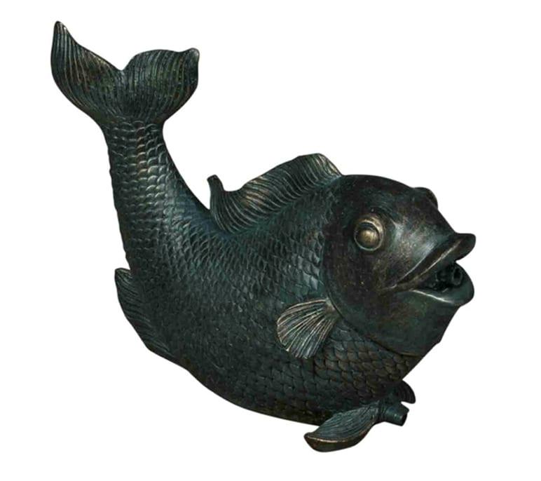 bermuda pond spitter decorative animal water features splashing fish