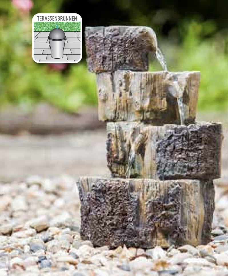 Tree Stump Cascade self contained water feature