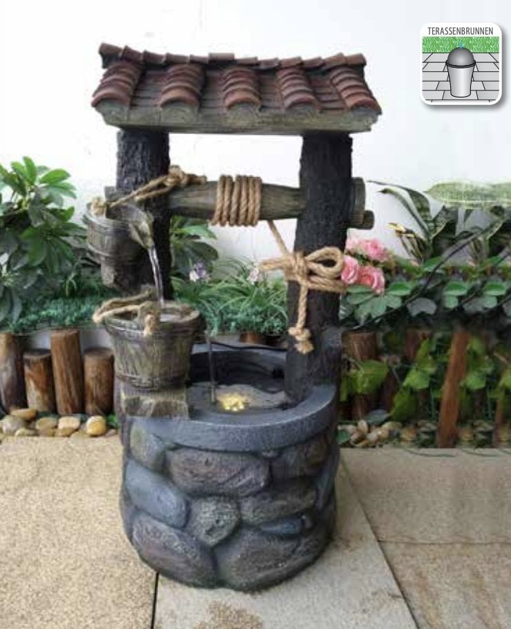 wishing well waterfall self contained water feature